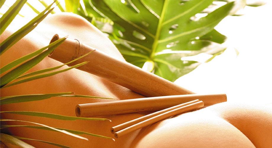 Массаж бамбуковыми палочками и бамбуковыми вениками